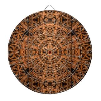 Carved Wood Symmetry Dart Boards