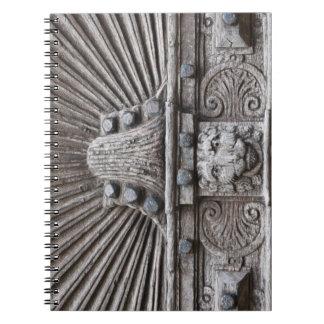 Carved Wooden Door Look Notebooks
