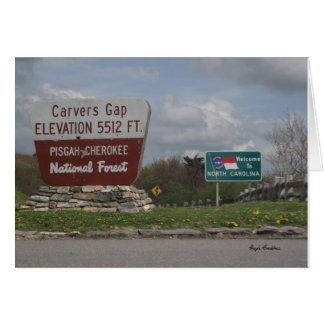 Carvers Gap Pisgah-Cherokee National Forest TN NC Card