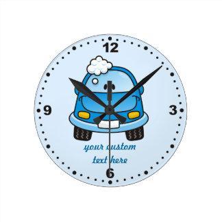 Carwash Round Clock