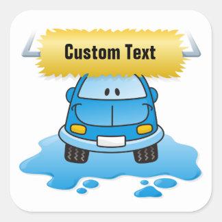 Carwash Square Sticker