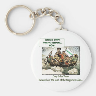 Cary Sales Team Basic Round Button Key Ring