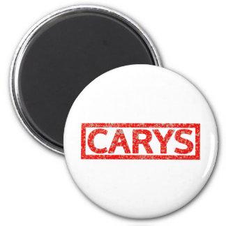 Carys Stamp 6 Cm Round Magnet