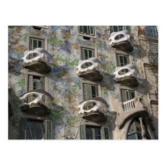 Casa Batlló in Barcelona by Antoni Gaudí Postcard