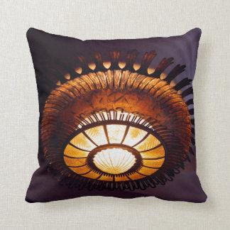 Casa Batllo interiour chandellier Throw Pillow