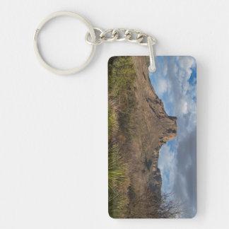 Casa Grande Peak, Chisos Basin, Big Bend Double-Sided Rectangular Acrylic Key Ring