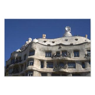 Casa Milà Barcelona Art Photo