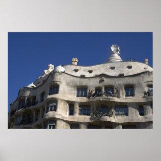Casa Milà Barcelona Print