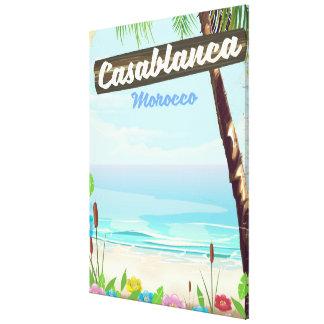 Casablanca Morocco, romantic vintage poster Canvas Print