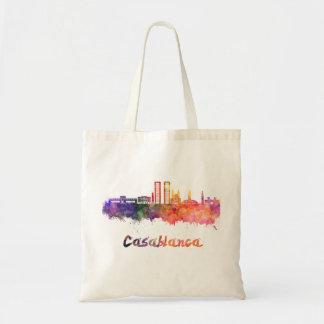 Casablanca V2 skyline in watercolor Tote Bag