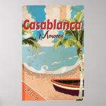 Casablanca Vintage Travel poster