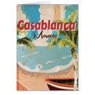 Casablanca Vintage Travel poster Card