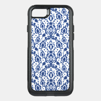 Casbah Moroccan Damask Blue and White OtterBox Commuter iPhone 8/7 Case