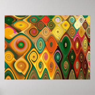 Cascade Cool Abstract Fine Art Fractal Poster