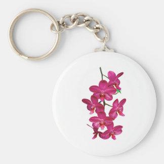 Cascade Magenta Orchids Key Ring