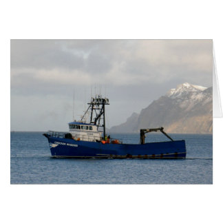 Cascade Mariner, Crab Boat in Dutch Harbor, AK Card