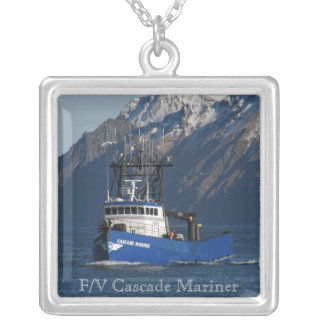 Cascade Mariner, Crab Fishing Boat Silver Plated Necklace
