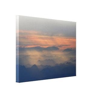 Cascade Mountains at Sunset Canvas Print