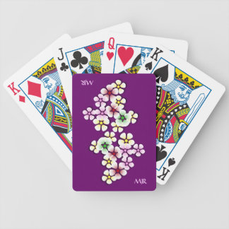 Cascade of Flowers with personalised name Poker Deck
