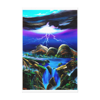 Cascade of Mt. oruga Canvas Print