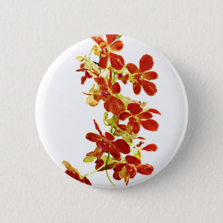 Cascade of Orange Orchids 6 Cm Round Badge