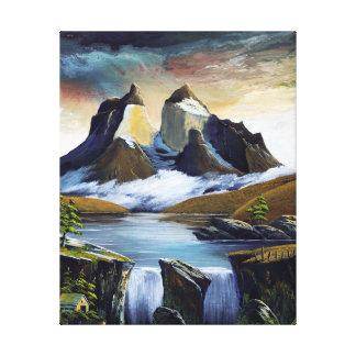 Cascade of paine canvas print