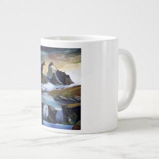 Cascade of paine large coffee mug