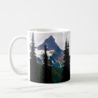 Cascade Peaks Watercolor Coffee Mug