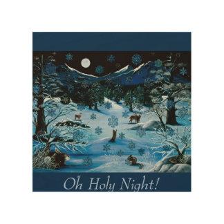 Cascade Snowflake Wood Panel ~ Oh Holy Night!