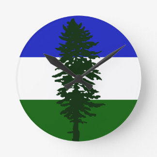 Cascadia Flag Round Clock