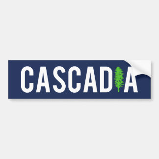 Cascadia Tree Bumper Sticker