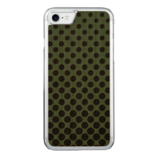 Cascading big to small black circles dark green carved iPhone 7 case
