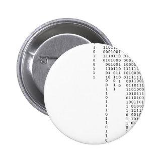 Cascading Binary 6 Cm Round Badge
