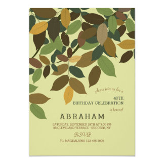 Cascading Leaves Invitation