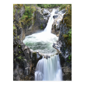 Cascading waterfall postcard