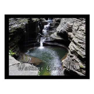 Cascading Waterfalls Green Pool Postcard