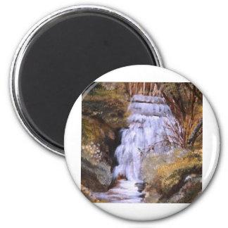 Cascata da Ribª da Ajuda - óleo (vendido) 6 Cm Round Magnet