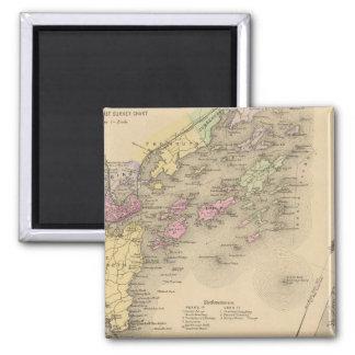 Casco Bay Map Magnet