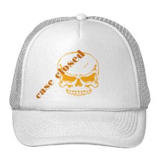 case closed orange skull cap