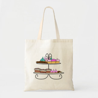 Case cup cake tote bag