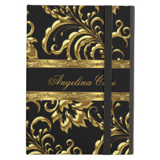 Case Elegant Gold black Damask Fashionable