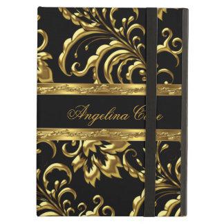 Case Elegant Gold black Damask Fashionable Case For iPad Air