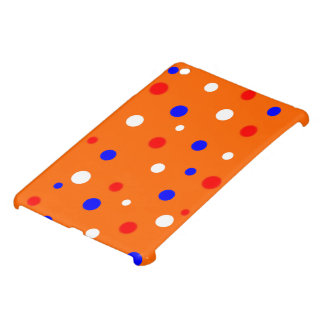 Case iPad Orange with RWB confetti iPad Mini Cases