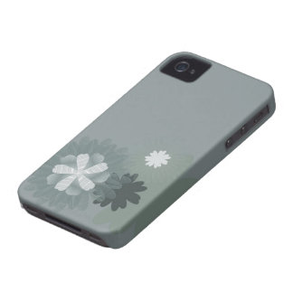 Case-Mate Barely There™ grey daisy Case-Mate iPhone 4 Case