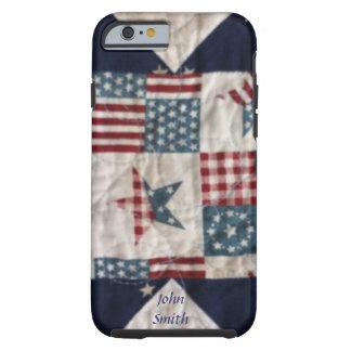 Case - Patriotic Quilt Design #2 Tough iPhone 6 Case