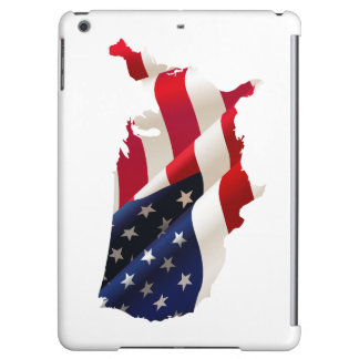 Case Savvy Glossy iPad Air Case USA Outline