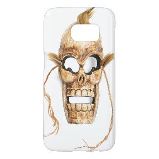 Case with with skeleton skull death joker mask