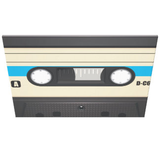 Casette Tape - Purple Gallery Wrapped Canvas