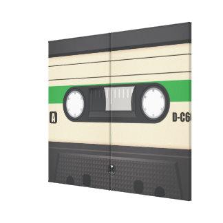 Casette Tape - Purple Stretched Canvas Prints