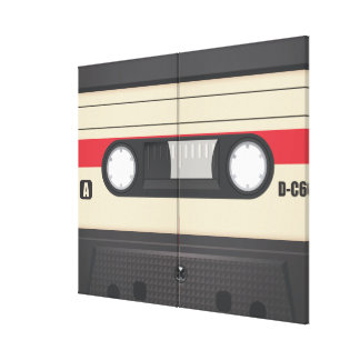 Casette Tape - Purple Stretched Canvas Print